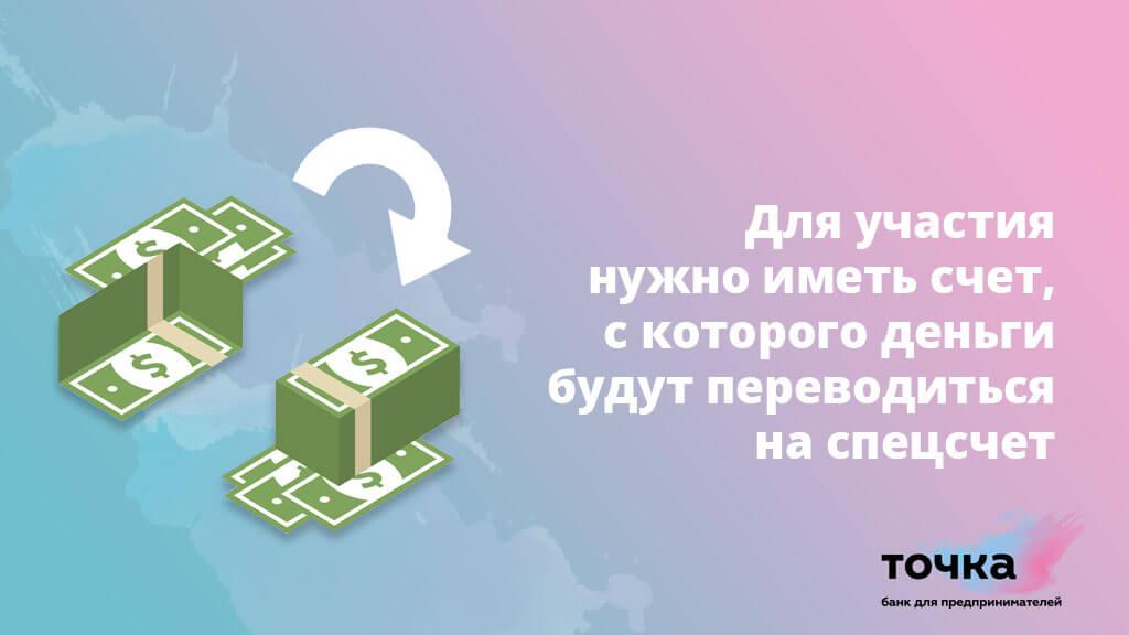 Для участия в акции в Точка Банке нужно иметь счет, с которого деньги будут переводиться на спецсчет